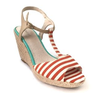 NEW Andre Striped Espadrille Sandal in EU Size 39
